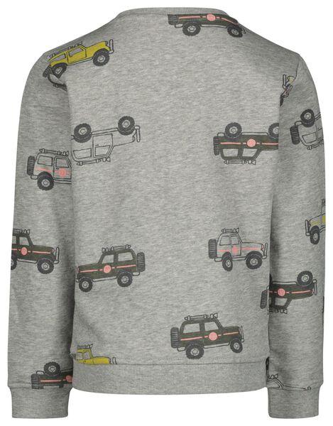 kindersweater jeep grijsmelange grijsmelange - 1000020843 - HEMA