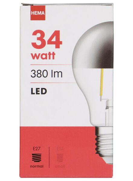 LED lamp 34W - 380 lm - peer - kopspiegel zilver - 20020014 - HEMA