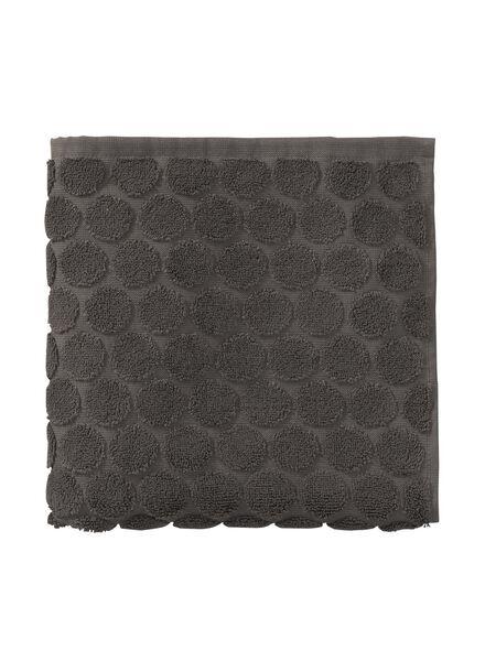 handdoek - 50 x 100 cm - zware kwaliteit - donkergrijs gestipt donkergrijs handdoek 50 x 100 - 5240172 - HEMA