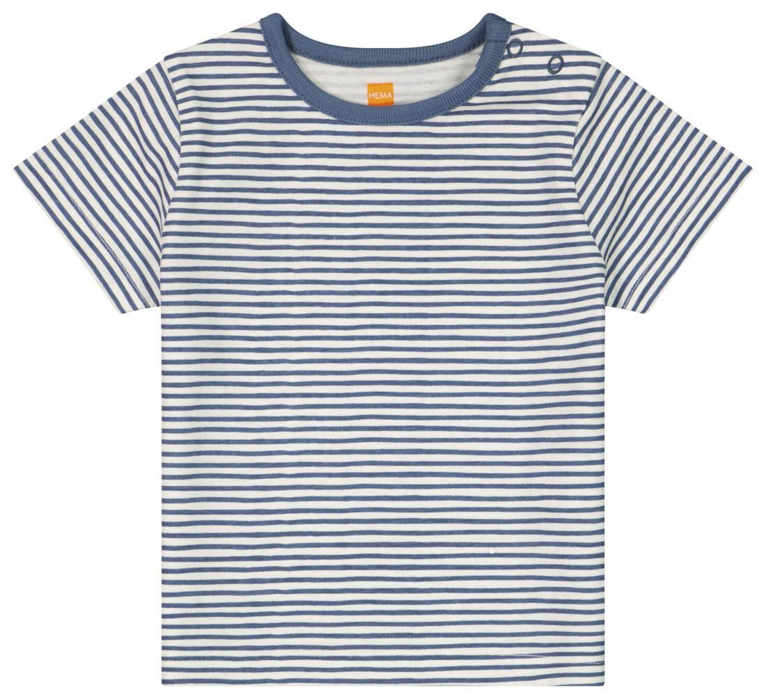 HEMA Baby T-shirt Strepen Gebroken Wit (gebroken wit)
