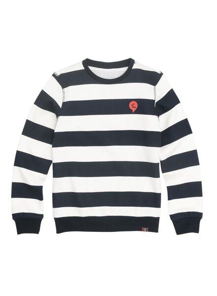 kindersweater donkerblauw donkerblauw - 1000011026 - HEMA