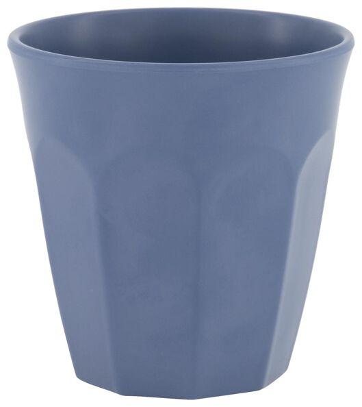 beker 300 ml melamine mat blauw - 80660057 - HEMA
