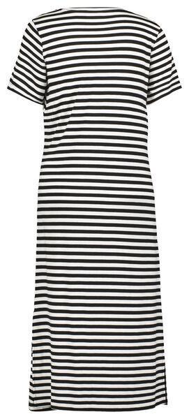 damesjurk strik zwart/wit zwart/wit - 1000023976 - HEMA