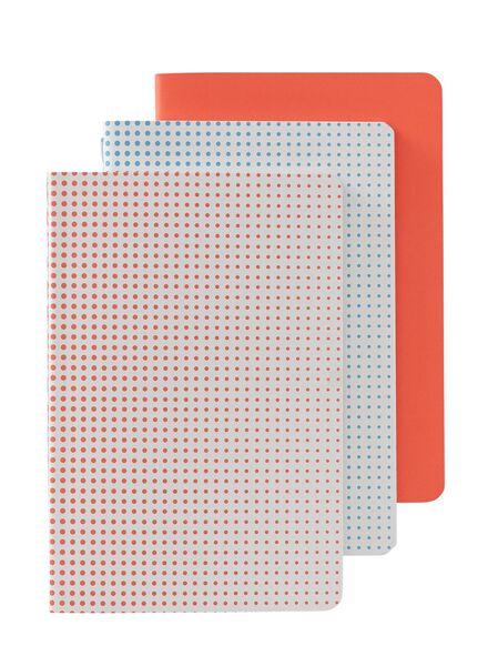 3-pak A6 notitieboekjes - 14101235 - HEMA