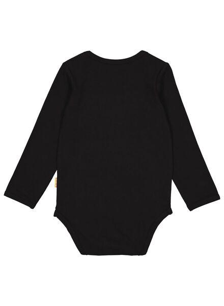 romper met bamboe stretch zwart zwart - 1000015078 - HEMA