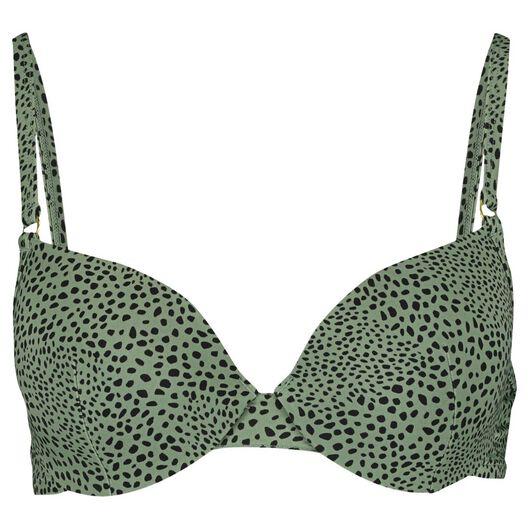 dames bikinitop padded met beugel D+ groen groen - 1000013814 - HEMA