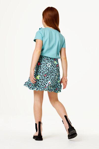 kinder t-shirt ruffle blauw - 1000023419 - HEMA