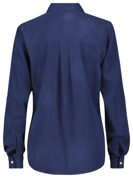 damesblouse donkerblauw S - 36248341 - HEMA
