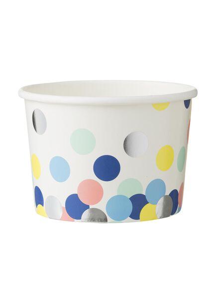 papieren bakjes - 10 cm - confetti - 5 stuks - 14230066 - HEMA