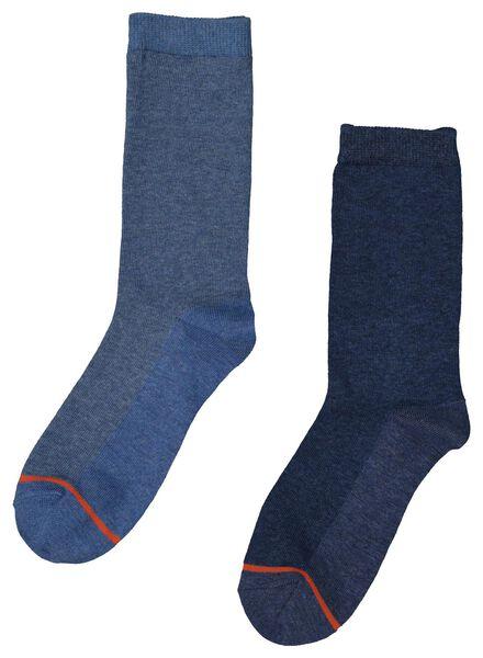 2-pak thermo damessokken donkerblauw donkerblauw - 1000001721 - HEMA