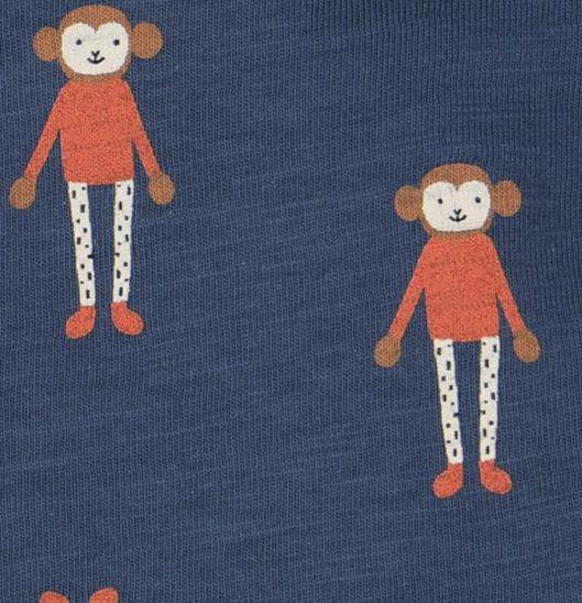 newborn t-shirt aap donkerblauw donkerblauw - 1000020567 - HEMA