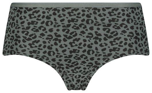 dameshipster luipaard donkergroen M - 19698752 - HEMA