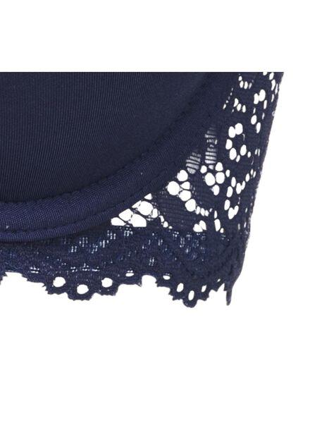 padded t-shirt bh micro blauw blauw - 1000011871 - HEMA