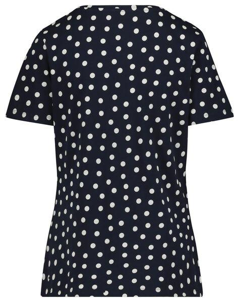 dames t-shirt donkerblauw donkerblauw - 1000019282 - HEMA