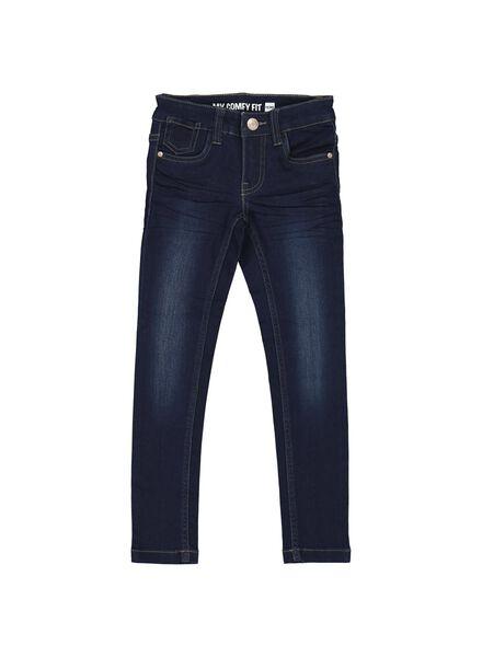 kinder skinny jeans - stretch donkerblauw donkerblauw - 1000005968 - HEMA