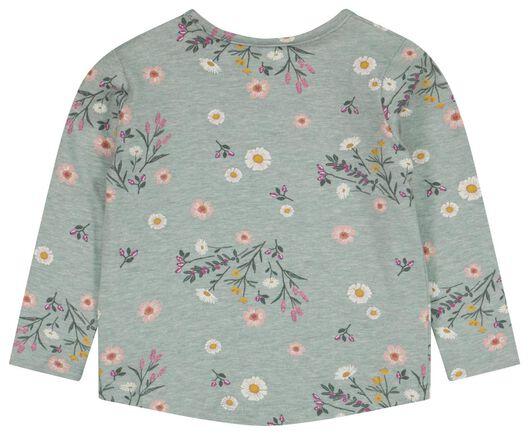 newborn t-shirt bloemen blauw blauw - 1000025151 - HEMA
