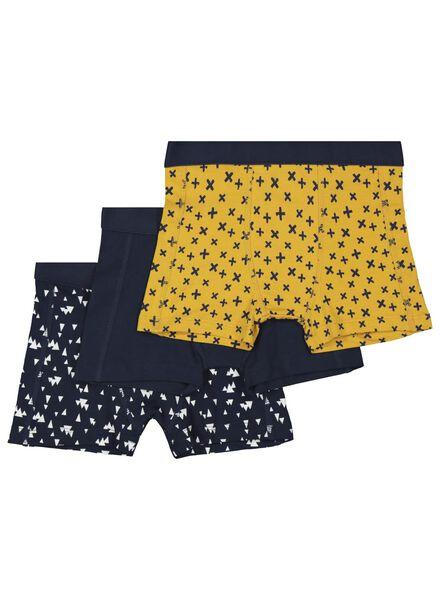 3-pak kinderboxers donkerblauw donkerblauw - 1000017322 - HEMA