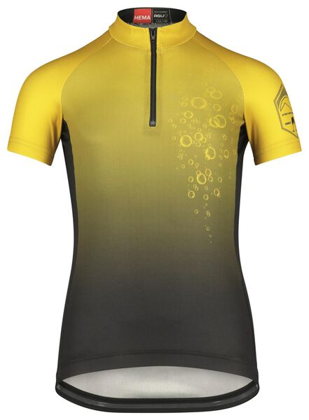kinder fietsshirt champagne zwart zwart - 1000021246 - HEMA