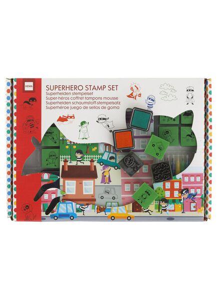 superhelden stempelset - 15990232 - HEMA