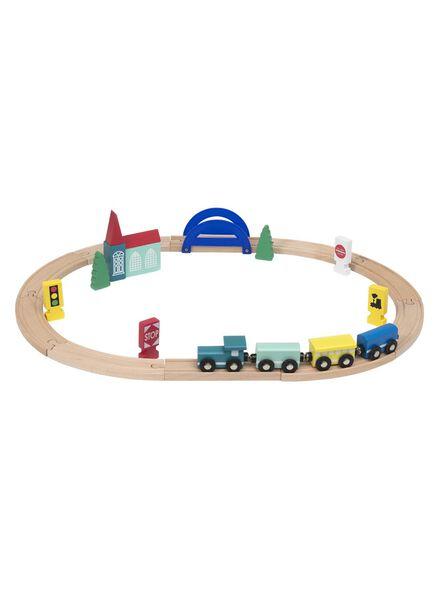 houten treinset - 15122235 - HEMA