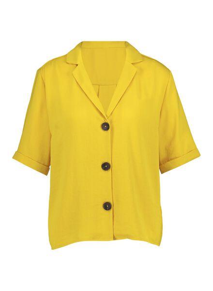 dames shirt geel geel - 1000014325 - HEMA
