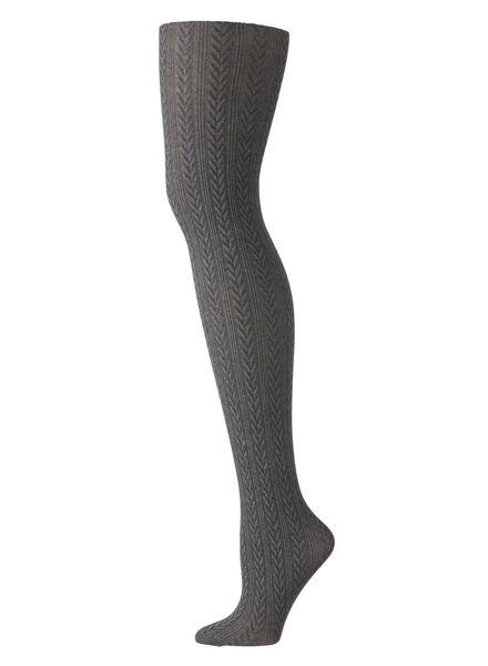fashion maillot met kabel dessin grijs grijs - 1000010283 - HEMA