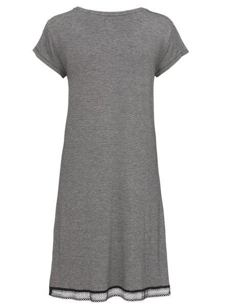 dames nachthemd viscose zwart/wit S - 23463786 - HEMA