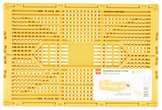 klapkratje letterbord recycled 20x30x11.5 - geel geel 20 x 30 x 11,5 - 39821021 - HEMA