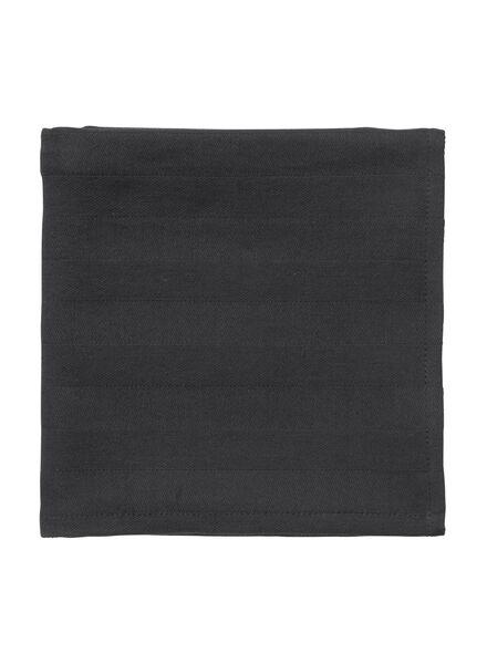 theedoek - 65 x 65 - katoen - zwart theedoek zwart - 5440225 - HEMA