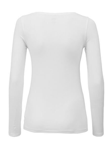 dames t-shirt wit S - 36381771 - HEMA