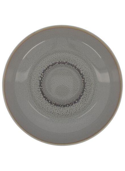 diep bord -  21 cm - Helsinki - reactief glazuur - lichtgrijs - 9602015 - HEMA