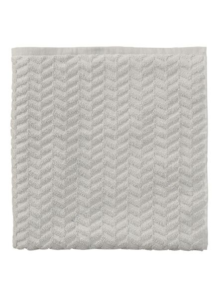 baddoek zware kwaliteit 70 x 140 - licht grijs - 5240186 - HEMA