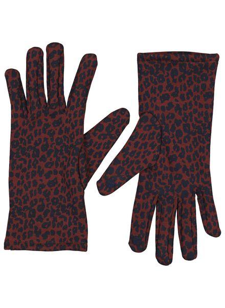 dameshandschoenen touchscreen rood rood - 1000015615 - HEMA