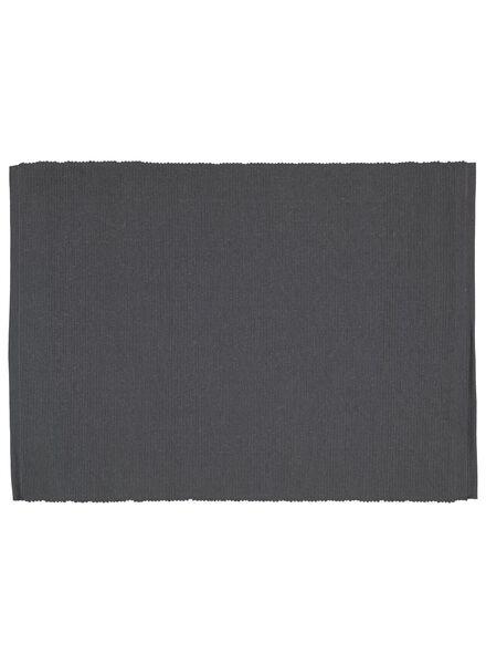 placemats - 42 x 32 - katoen - grijs - 2 stuks - 5300055 - HEMA