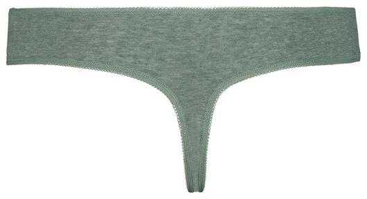 3-pak damesstrings groen groen - 1000018553 - HEMA