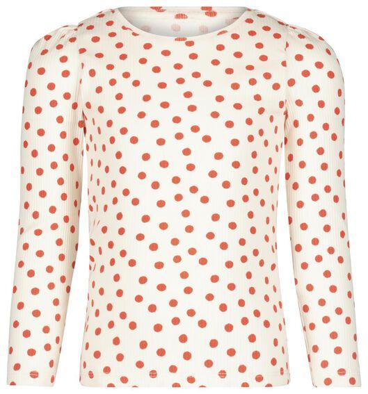 kinder t-shirt rib rood - 1000020620 - HEMA