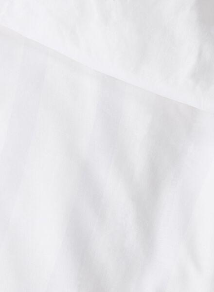 dekbedovertrek - hotel katoen satijn - streep wit wit - 1000014105 - HEMA