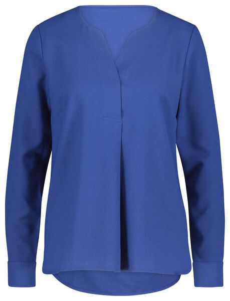 dames top kobaltblauw kobaltblauw - 1000021017 - HEMA