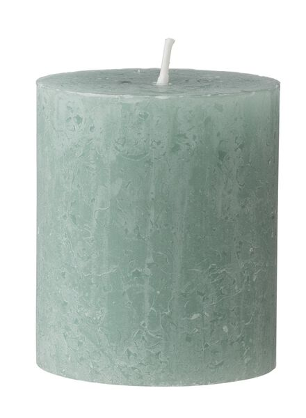 rustieke kaarsen groen groen - 1000015396 - HEMA