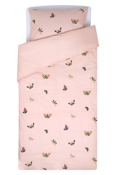 kinderdekbedovertrek zacht katoen 140x200 vlinder - 5720125 - HEMA