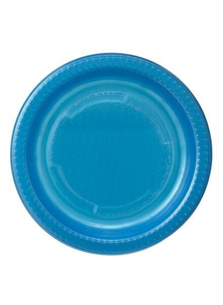 plastic borden - 17.5 cm - blauw - 10 stuks - 14252064 - HEMA