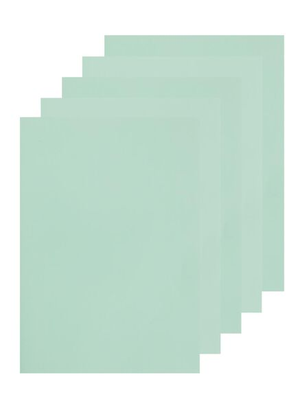 schriften A4 gelinieerd mint - 5 stuks - 14522531 - HEMA