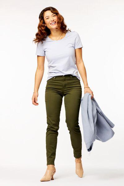dames t-shirt lichtblauw L - 36324783 - HEMA