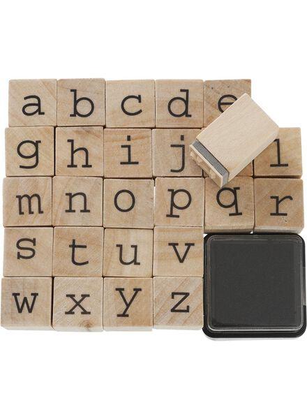 stempelset alfabet - 14860031 - HEMA