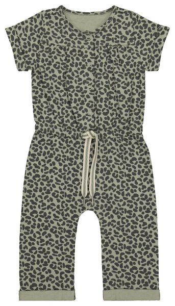 baby jumpsuit sweat animal groen groen - 1000022195 - HEMA