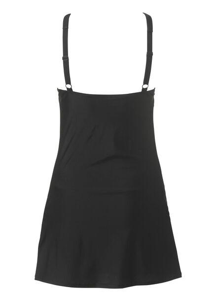 dames badpakjurk medium control zwart zwart - 1000017899 - HEMA