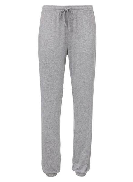 dames pyjamabroek viscose grijsmelange grijsmelange - 1000011757 - HEMA