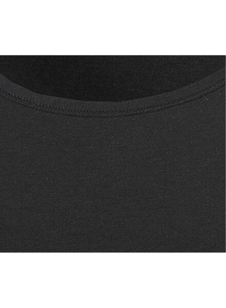 dameshemd real lasting cotton zwart zwart - 1000001957 - HEMA
