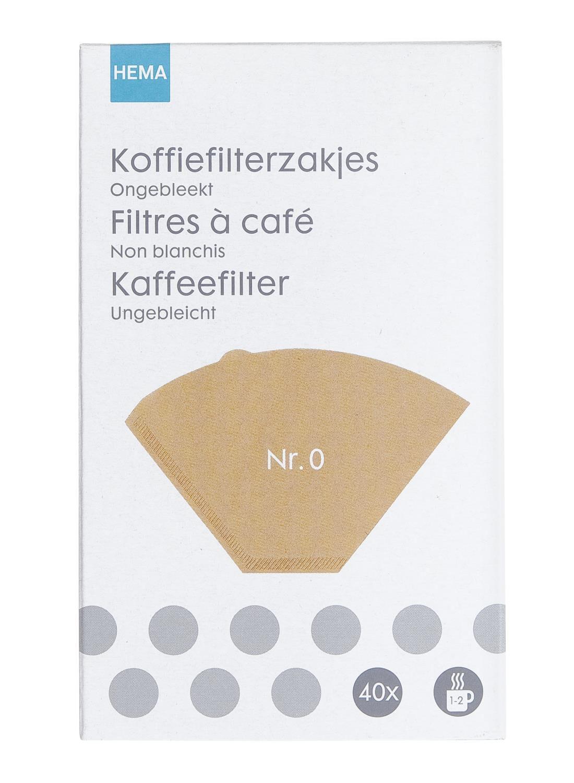 HEMA Koffiefilters Nr.0 (bruin)