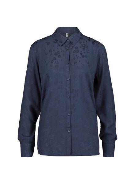 dames blouse donkerblauw donkerblauw - 1000015389 - HEMA